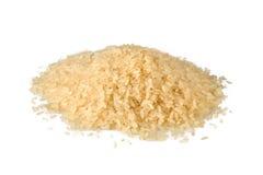 Rijst op witte achtergrond Royalty-vrije Stock Foto's