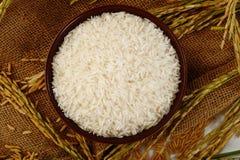 Rijst op zak Stock Afbeelding