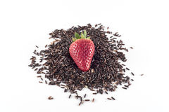 Rijst Thaise zwarte en aardbei Stock Foto