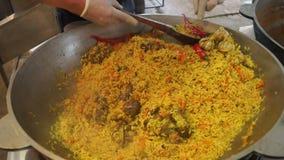 Rijst van voedsel de hete Azië stock footage