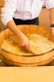 Rijst voor sushi stock afbeelding