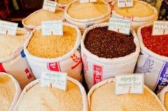 Rijst voor Verkoop Royalty-vrije Stock Afbeeldingen