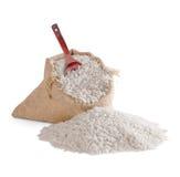 Rijst in zak stock foto's