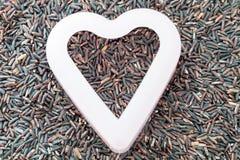Rijstbes in hartvorm Royalty-vrije Stock Foto