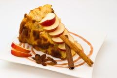 Rijstebrij met appelen Stock Foto