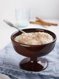 Rijstebrij met Kaneel Stock Foto