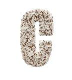 Rijstkorrel die een alfabetbrief C vormen Stock Afbeeldingen