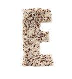 Rijstkorrel die een alfabetbrief E vormen Royalty-vrije Stock Afbeelding