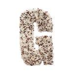 Rijstkorrel die een alfabetbrief G vormen Stock Afbeeldingen