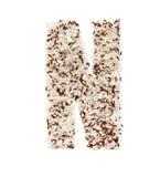 Rijstkorrel die een alfabetbrief N vormen Stock Fotografie