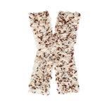 Rijstkorrel die een alfabetbrief X vormen Stock Foto