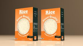 Rijstpapierpakketten 3D Illustratie Royalty-vrije Stock Foto