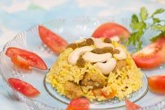 Rijstpulau, Indisch voedsel, keuken Stock Foto's