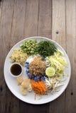 Rijstsalade met kruiden Stock Afbeeldingen