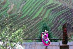 Rijstterrassen, China Royalty-vrije Stock Foto