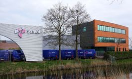 Sandd building in the Netherlands. Rijswijk, the Netherlands. April 2018. Sandd is a Dutch postal and delivery company royalty free stock images