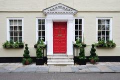 Rijtjeshuis voor de betere inkomstklasse royalty-vrije stock foto's