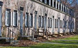 Rijtjeshuizen stock foto