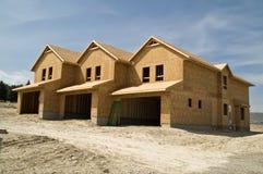 Rijtjeshuizen in aanbouw Stock Fotografie