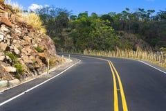 Rijweg in El Salvador, Midden-Amerika Stock Afbeelding