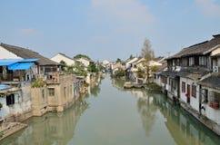 Rijweg in zhujiajiao Royalty-vrije Stock Afbeeldingen