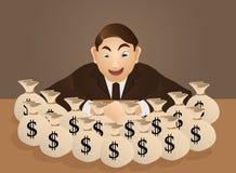 Rik affärsman stock illustrationer