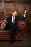 Rik affärsman med cigarren Royaltyfria Foton