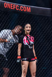 """Rika Ishige """"Tiny Doll"""" of Thailand in One Championship. Royalty Free Stock Photography"""