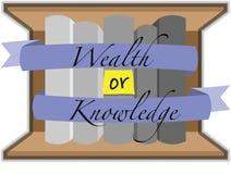 Rikedom eller kunskap? fotografering för bildbyråer