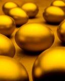 rikedom för äggguldbesparingar Arkivfoton