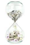 rikedom för affärstillväxt med tiden Arkivfoto