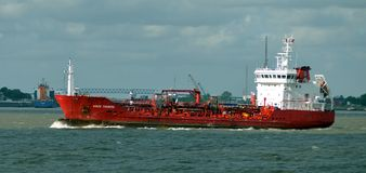 Rikke Theresia Oil / Chemical Tanker Royalty Free Stock Photography