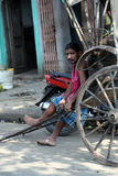 Rikscha-Fahrer Stockfotografie