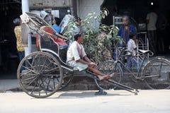 Rikscha-Fahrer Lizenzfreie Stockfotografie