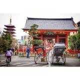 Rikscha an sensoji Tempel Stockfotografie