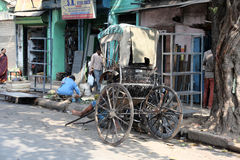 Rikschafahrer in Kolkata Lizenzfreies Stockbild