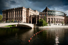 Riksdag Building in Stockholm Royalty Free Stock Photos