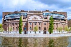Riksdag - het Zweedse parlement Royalty-vrije Stock Afbeelding