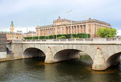 Riksdag (Parliament) Building, Stockholm Stock Photography