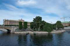 Riksdag Parliament Building In Stockholm Royalty Free Stock Image