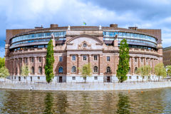 The Riksdag - Swedish parliament. (Horizontal Royalty Free Stock Image