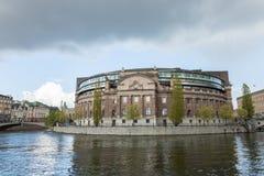 Riksdagen Bâtiment suédois du parlement Images stock