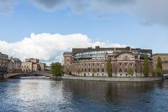 Riksdagen Bâtiment suédois du parlement Photographie stock