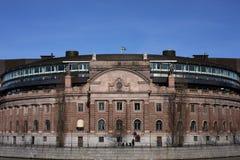 Riksdagen, das schwedische parlament stockbilder