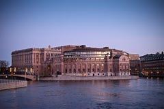 Riksdagen (het Zweedse Parlement) in Stockholm. Stock Foto's