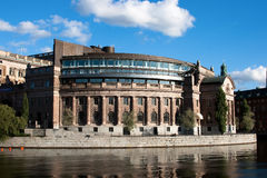 Riksdagen (Swedish Parliament) in Stockholm. Stock Photography