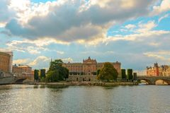 Riksdagshuset,瑞典议会大厦,斯德哥尔摩,瑞典 库存图片