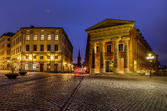 Riksgatan Street in the Evening, Stockholm Stock Photography