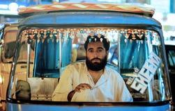 Riksha-Fahrer Portrait lizenzfreies stockbild