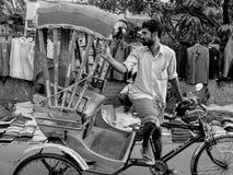 Rikshaw puller arkivbild